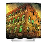 Old Empty Building In Retro Colors Shower Curtain