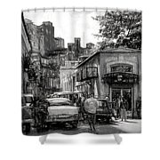 Old Buildings And Cars In Havana - V2 Shower Curtain