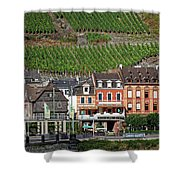 Old Buildings And Vineyards Shower Curtain