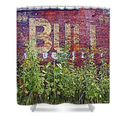 Old Bull Durham Sign - Delta Shower Curtain