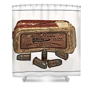 Old Bullets Shower Curtain