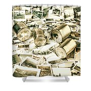 Old Business Wires Shower Curtain