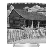 Old Cabin Ir Shower Curtain