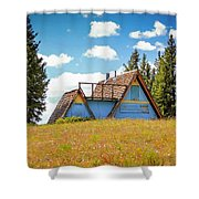 Old Cabin Shower Curtain