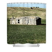 Old Cabin On The Plains Shower Curtain