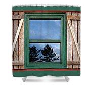Old Cabin Window Shower Curtain