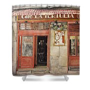 Old Cafe- Santander Spain Shower Curtain by Tomas Castano