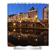 Old Canal In Utrecht At Dusk 211 Shower Curtain