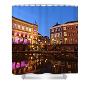Old Canal In Utrecht In The Evening 4 Shower Curtain