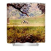 Old Cannon At Gettysburg Shower Curtain