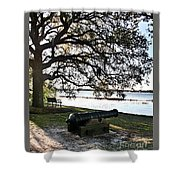 Old Cannon By The Sea Shower Curtain