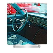 Old Car Interior Shower Curtain
