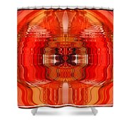 Old Car Reflection As Art Shower Curtain