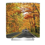 Old Car Tour To Copper Harbor Shower Curtain