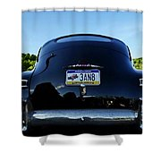 Old Car Trunk With Artistic Background Shower Curtain