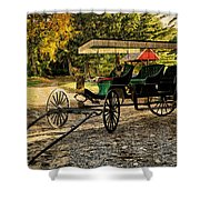 Old Cart - Old Movie Edition Shower Curtain