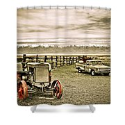 Old Case Tractor Shower Curtain