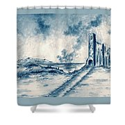 Old Castle Ruins Shower Curtain