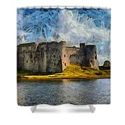 Old Castle Shower Curtain