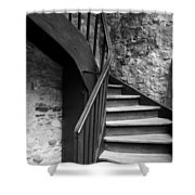 Old Castle Stairway Shower Curtain