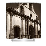 Old Catholic Mission Ghost Town Shower Curtain