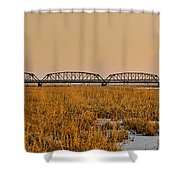 Old Cedar Road Bridge Shower Curtain