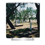 Old Cementery Shower Curtain