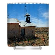 Old Chapel On Route 66 In Newkirk Nm Shower Curtain