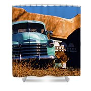 Old Chevrolet Shower Curtain