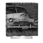 Old Chevy By The Levee Shower Curtain
