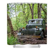Old Chevy Oil Truck 1  Shower Curtain