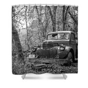 Old Chevy Oil Truck 2 Shower Curtain