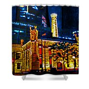 Old Chicago Pumping Station Shower Curtain by Michael Durst