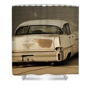 Old Cadillac In Sepia Tones Shower Curtain