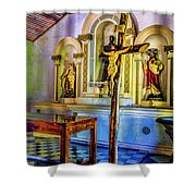 Old Church Altar Shower Curtain