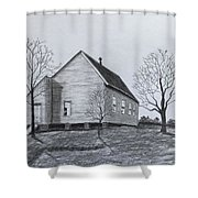 Old Church At Beatties  Ford Shower Curtain