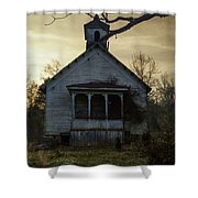Old Church At Sunset Shower Curtain