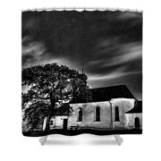 Old Church B/w  Shower Curtain