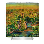 Old Church On The River Shower Curtain