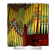Old Church Organ Shower Curtain