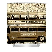 Old City Bus Tour Shower Curtain