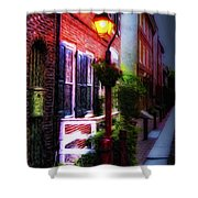 Old City Streets - Elfreth's Alley Shower Curtain by Bill Cannon