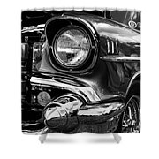 Old Classic Car In Black And White Shower Curtain