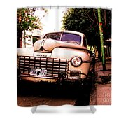 Old Classic Dodge, On The Streets Of Buenos Aires Shower Curtain