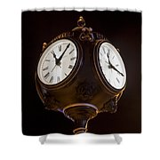 Old Clock Shower Curtain