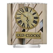 Old Clocks Shower Curtain