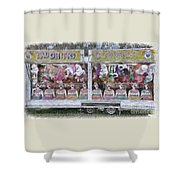 Old Clowns And Soft Toys By Kaye Menner Shower Curtain