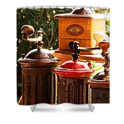 Old Coffee Grinders Shower Curtain