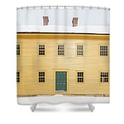 Old Colonial Era Period House In Winter Shower Curtain