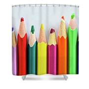 Old Colored Pencils Shower Curtain